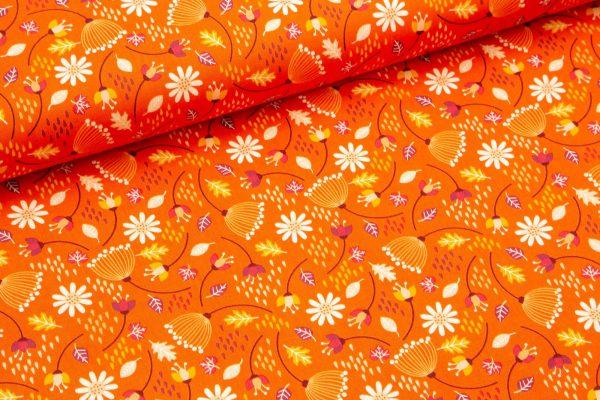 Spring rože na oranžni